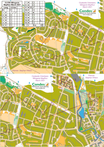 Map Run Milngavie March 2021 Long