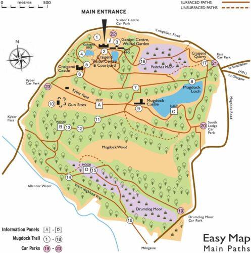 Mugdock country park map